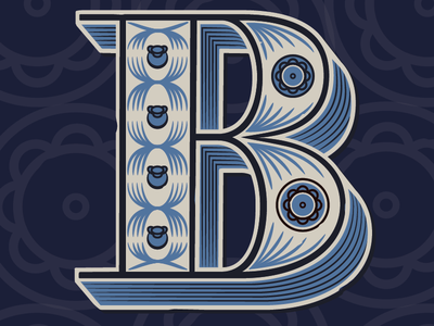 B for Blueberry typography illustration lettering graphic design packaging