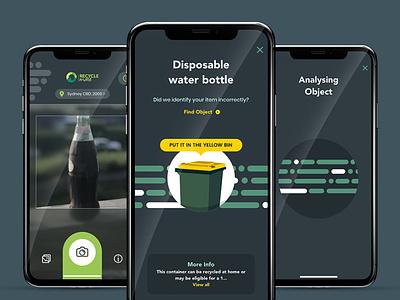 Recycle Mate App flat ui design app