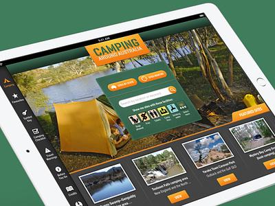 Camping Around Australia ux ui design app