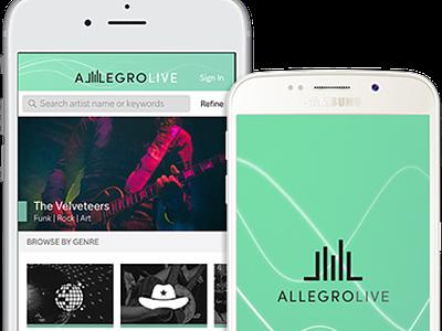 Allegro Live App Design app