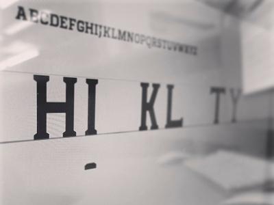 Type Design typeface design font