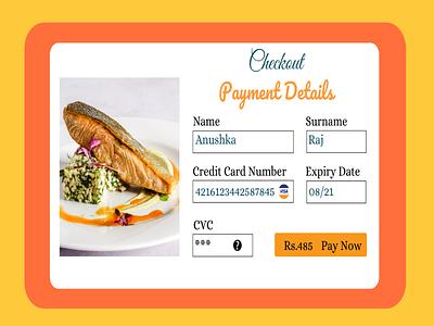Credit Card Checkout branding ux web ui typography illustration design
