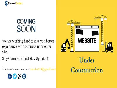 Website Under Construction Page ui website ux illustration design