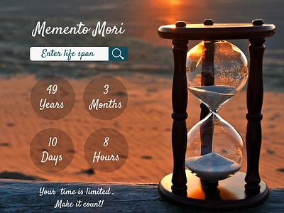 Life Countdown countdowntimer countdown web ux ui design