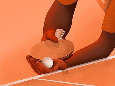 Ping Pong sports wacom drawing adobe photoshop tabletennis pingpong artwork artist adobe illustrator adobe photoshop