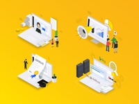 Isometric illustration for PPC Bee #2