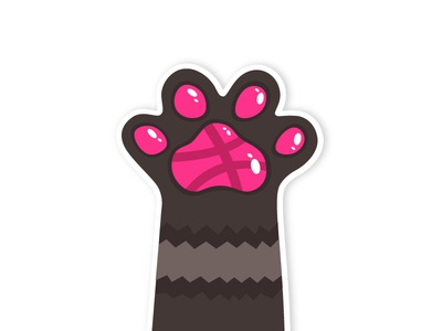 High Paw! Dribble sticker