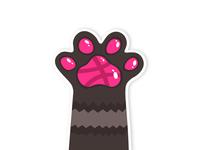 High Paw! Dribble sticker
