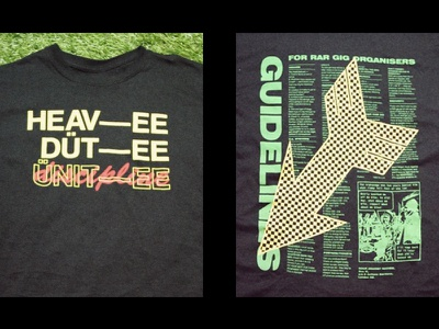 Heavy Duty Discipline typography tshirt reggae punk
