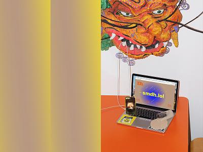 NEW SITE!!! website design lol smdh weird contemporary portfolio website