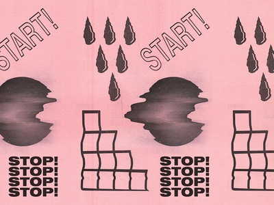 start/stop gorilla biscuits scanned hardcore typography texture glitch