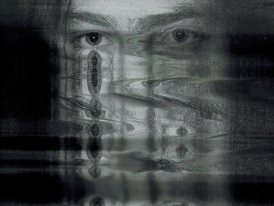 eyes scanned glitch eyes