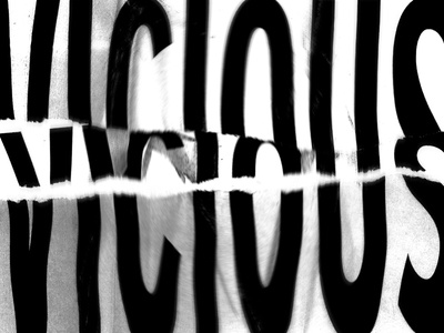 vicious typography scanned type