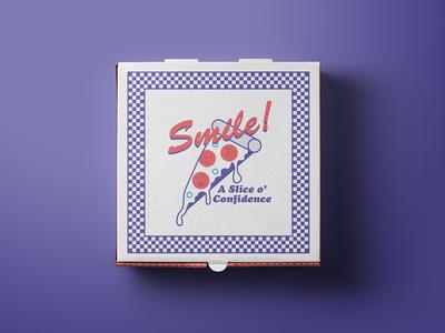 Selfie Station conceptual screenprint cooper black pizza