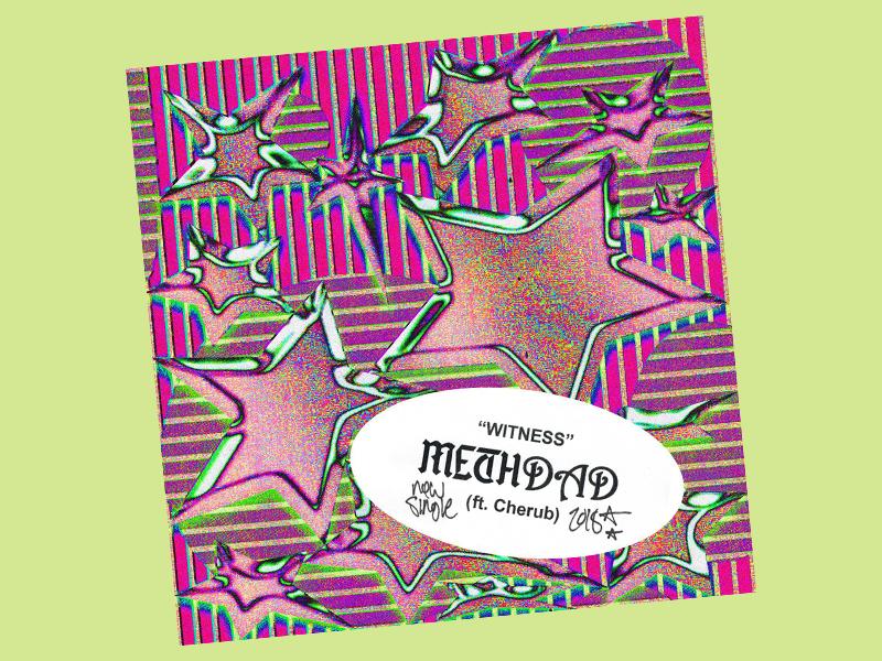 stars n stripes stripes stars 3d grain blackletter typography album art