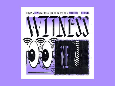 Single Art witness meth album art music typography scanned type