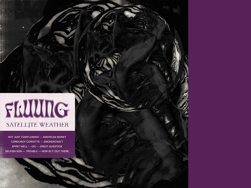 Fluung album art sticker mule album art typography texture music