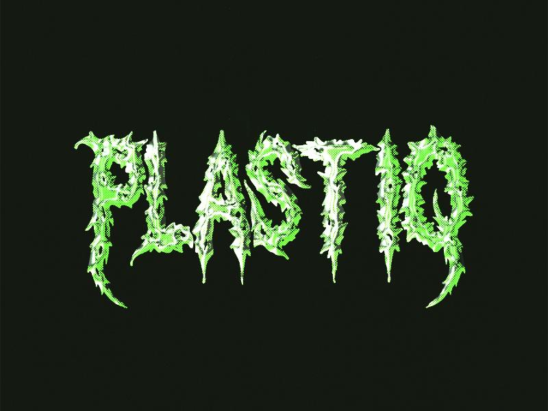 Plastiq death metal halftone typogaphy