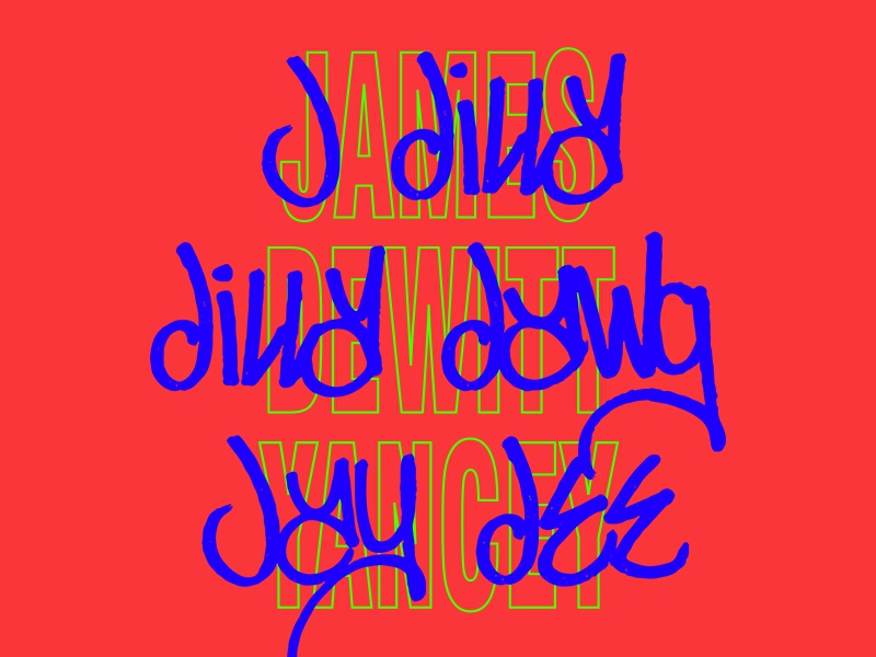 RIP DILLA stretched type stretched graffiti handstyle typography beats hip hop dilla j dilla