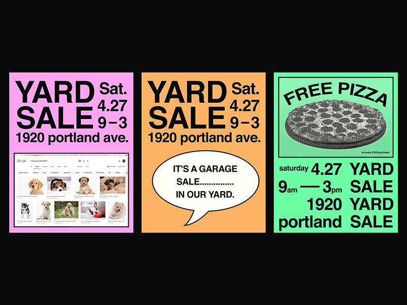 Yardsale yard sale poster design poster