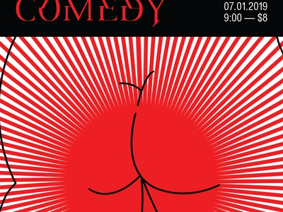 Comedy Poster typography poster flyer comedy butts butthole
