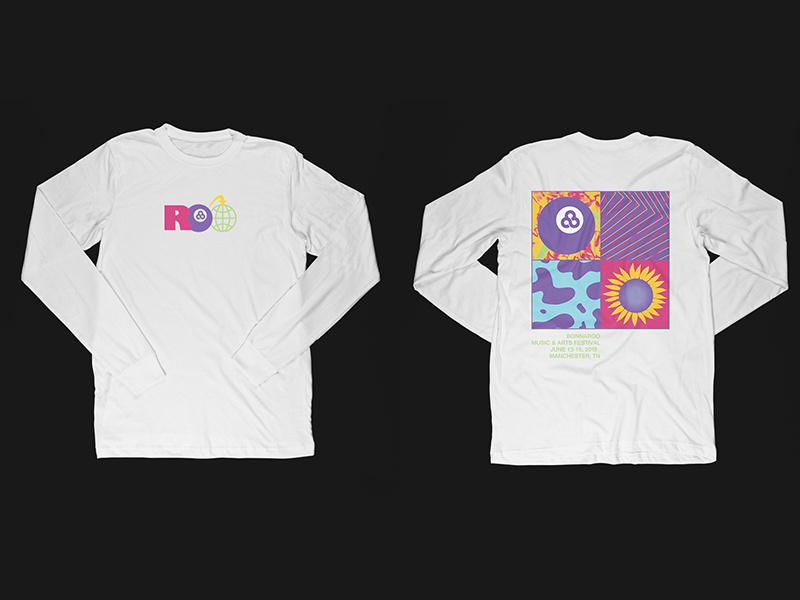 Bonnaroo screenprint texture festival merch longsleeve bonnaroo