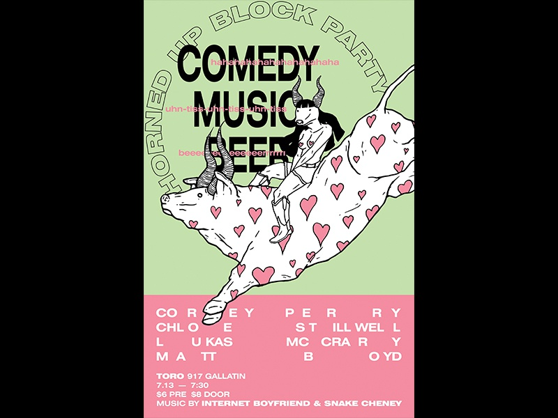 Comedy,Music, Beer Poster typogaphy flyer poster comedy