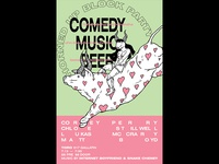 Comedy,Music, Beer Poster
