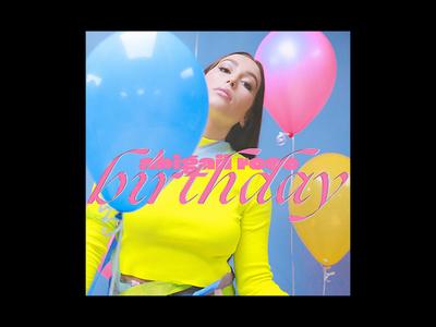 'birthday' single cover typogaphy ogg pop musician album art