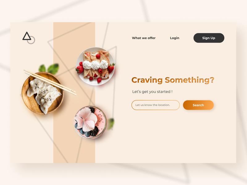 Restaurant Login Page food restaurant mockup website design ui figma