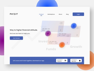 Payzot investment website web design ui figma