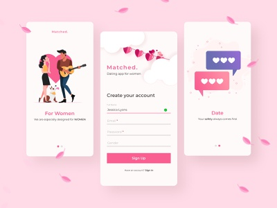 Dating App Signup dating app datingapp illustration signup app design ui figma