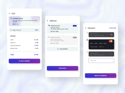 Credit card checkout : Daily UI mobile app design mobile design mobile app mobile ui ux checkout page checkout creditcard app design ui figma