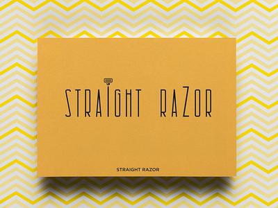 Straight Razor Logo logo illustration