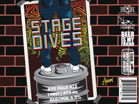 Stage Dive Beer Label