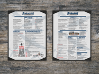 Menu design for Aviator Brewery in Fuquay Varina, NC