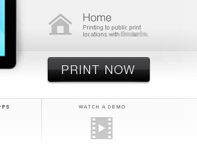 Print Now Button button black shiny
