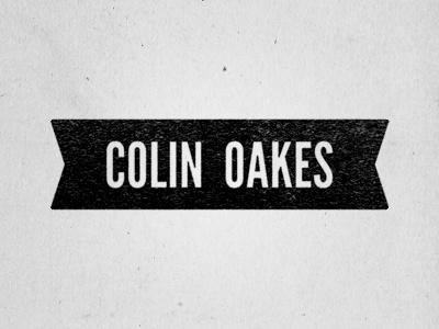Colin Oakes Wordmark logo black white retro