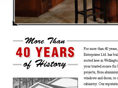 Lloyd Scott History typography border content website