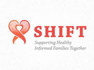 Shift logo fox tail heart