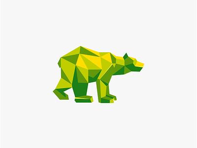 Bear nanas99d poligon logo icon vector design animal art logodesign creative coreldraw nanas870 art bear logo