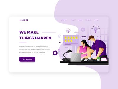 Creative Team Landing Page