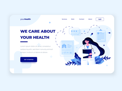 Medical Health Illustration Landing page