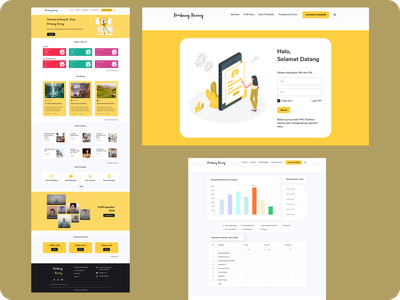Kembang Kuning Website web ui design