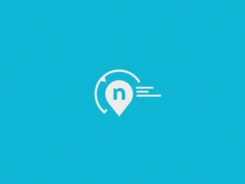 Nextcam Logo logo blue minimal widget clean flat