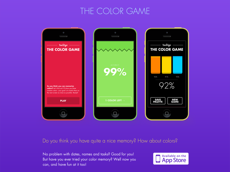 Color Game Minisite by Daniel Boros on Dribbble
