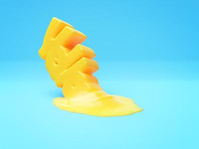 Yello yellow 3d type illustration blender3d render blender