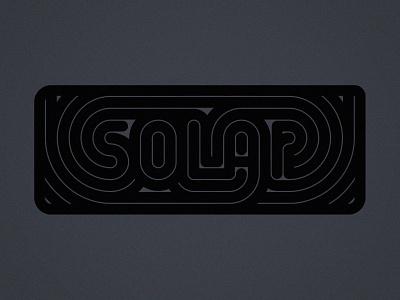 Solar type solar typogaphy flat illustration