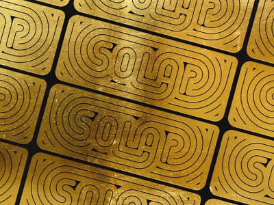 Gold Foil Solar lettering solar typography illustration