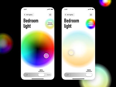 Smart Light UI smart home ux mobile iphone sketch flat ui ios app